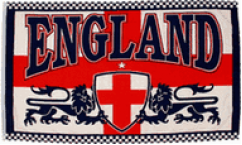 England 2 Lions Flags